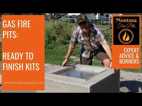 Make your DIY gas fire pit planning simple with a ready to finish fire pit kit!