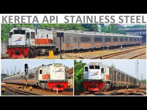 Kompilasi Kereta Stainless Steel Di Daop 8 Surabaya