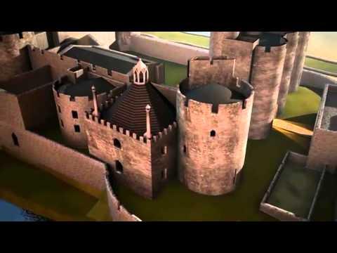 Rebuilding the past: Caerphilly Castle / Ailadeiladu'r gorffennol. Castell Caerffili