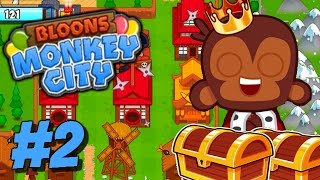 Bloons Monkey City | BATTLING FOR TREASURE! WHAT DO I GET?! | Bloons TD Monkey Gameplay