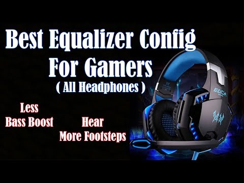 Best PC Equalizer Setup or Configuration For Gamers || Less Bass || More  Footsteps ||
