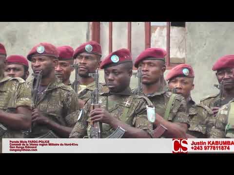 Parade Mixte FARDC-POLICE avant la publication des résultats des élections en RDC