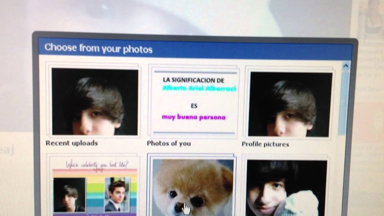 how to set facebook profile picture to default