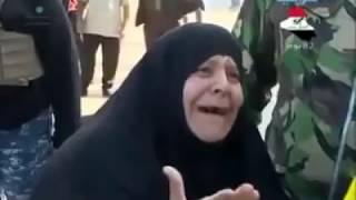 إمراة عراقيه تبكي بحرقة على ابنها المقتول