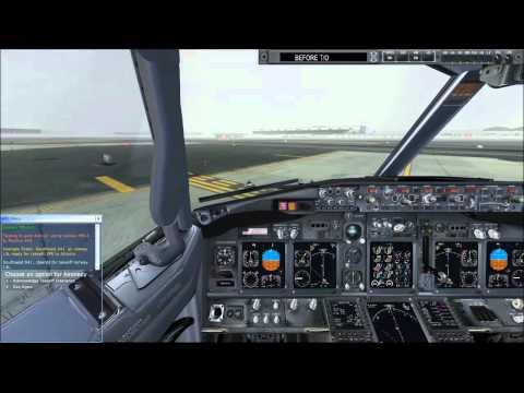 [FSX] PMDG 737 Flight from KJFK to KATL