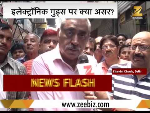 Watch electronic businessmen react to GST in Chandni Chowk, Delhi