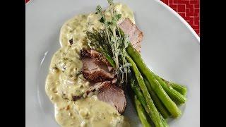Pan Seared Pork Tenderloin With Green Peppercorn (au Poivre)