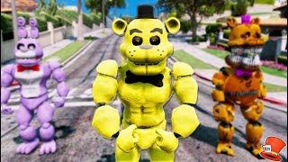 NEW BUFF GOLDEN FREDDY ANIMATRONIC! (GTA 5 Mods For Kids FNAF RedHatter)