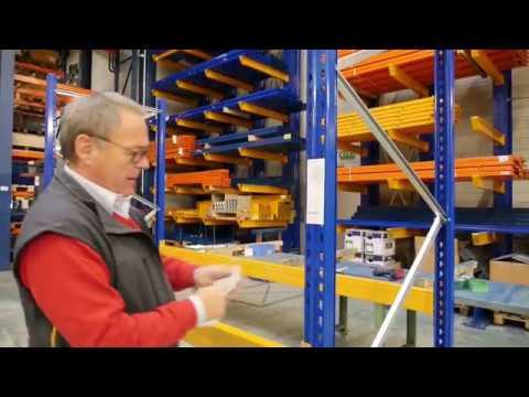 Jungheinrich Tutoriel sur la construction de racks à palettes