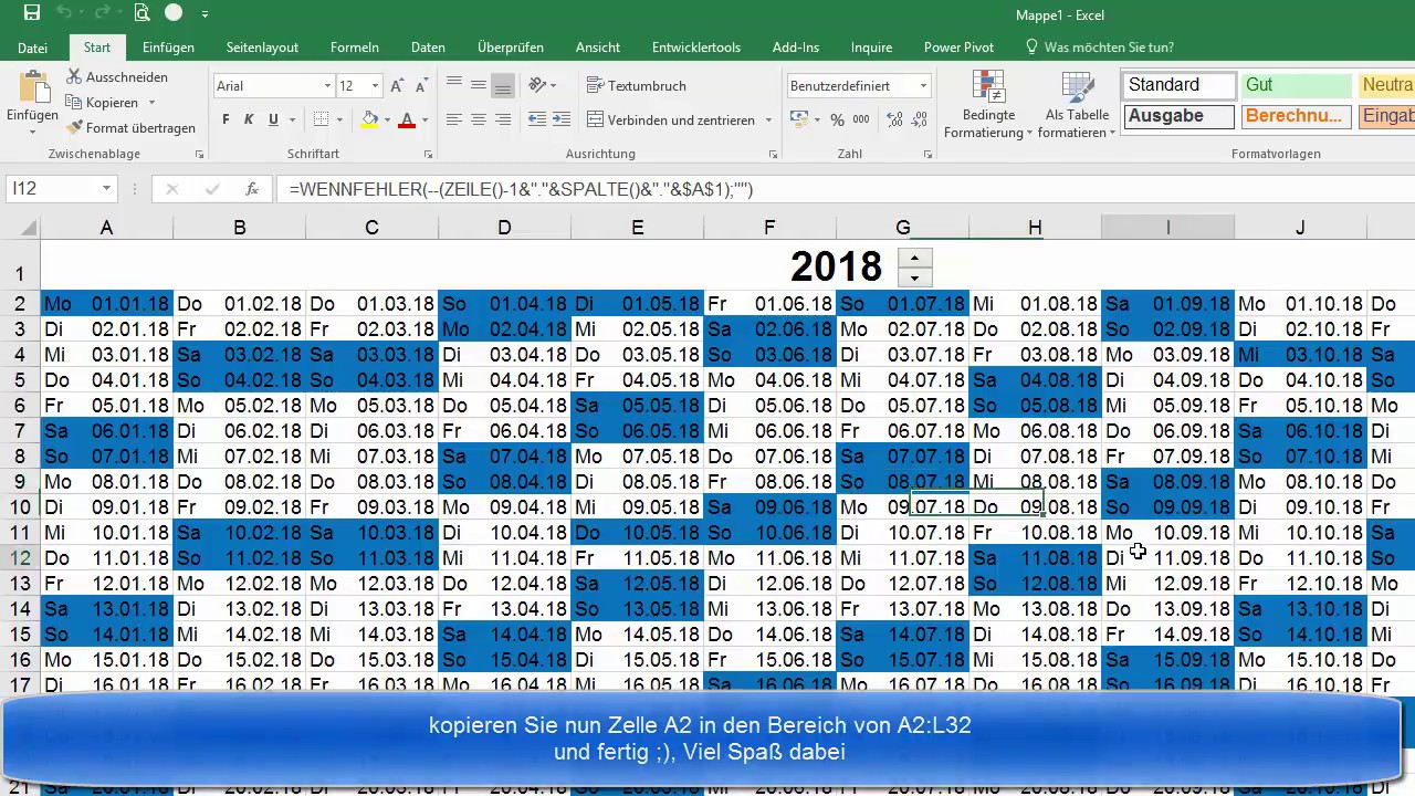 Einfacher Kalender