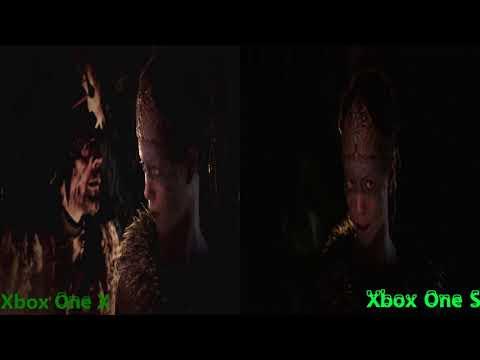 HellBlade Graphics Comparison Xbox One X Vs Xbox One S