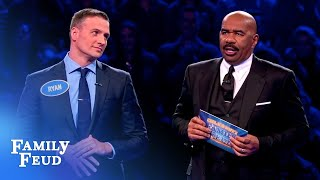 Ryan Lochte and wife Kayla dive into Fast Money!   Celebrity Family Feud