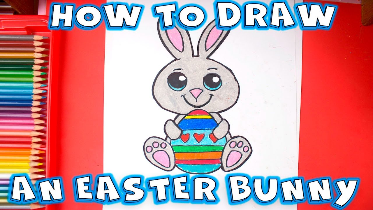 How To Draw An Easter Bunny  Easy Drawings Step By Step