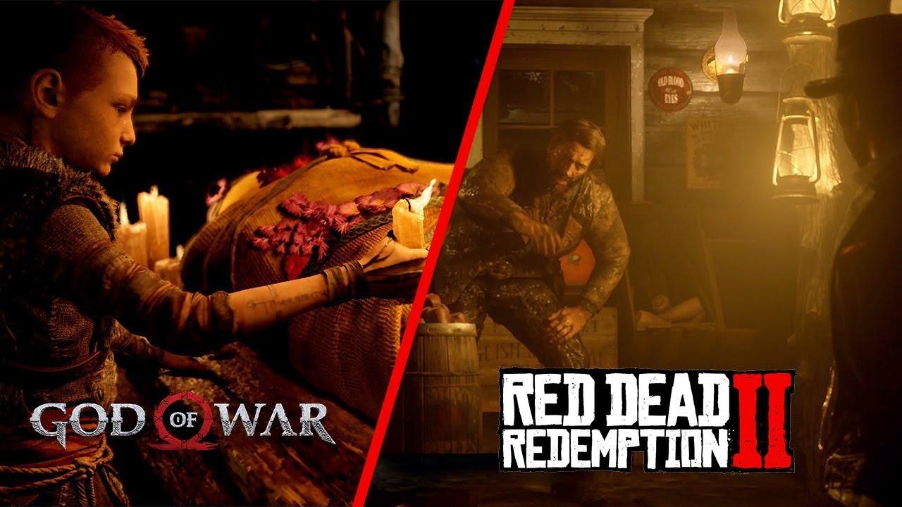 god of war vs red dead redemption 2 ile ilgili görsel sonucu