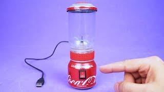 Increíble Mini Licuadora USB hecho con Latas de Refresco y Motor dc