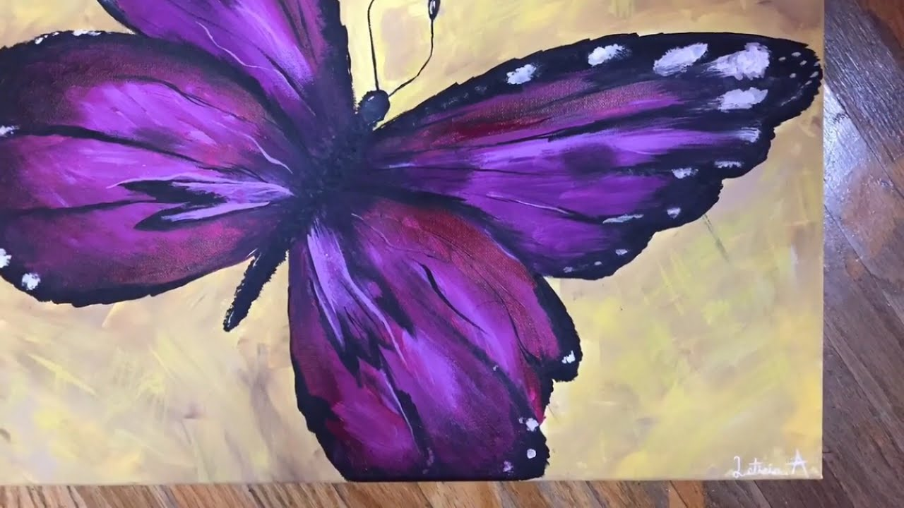 Acrylic Butterfly Painting - YouTube