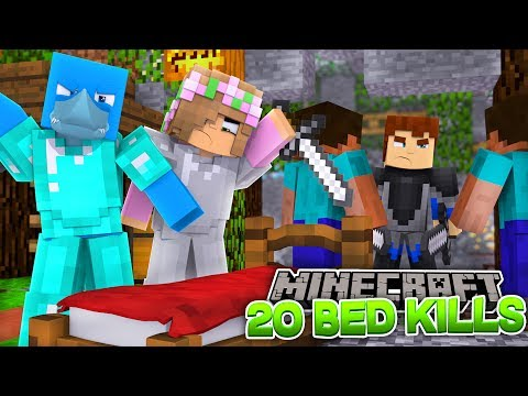 HOW TO WIN THE BED CHALLENGE - Minecraft Bed wars w/ Little Kelly, Sharky and Scuba Steve