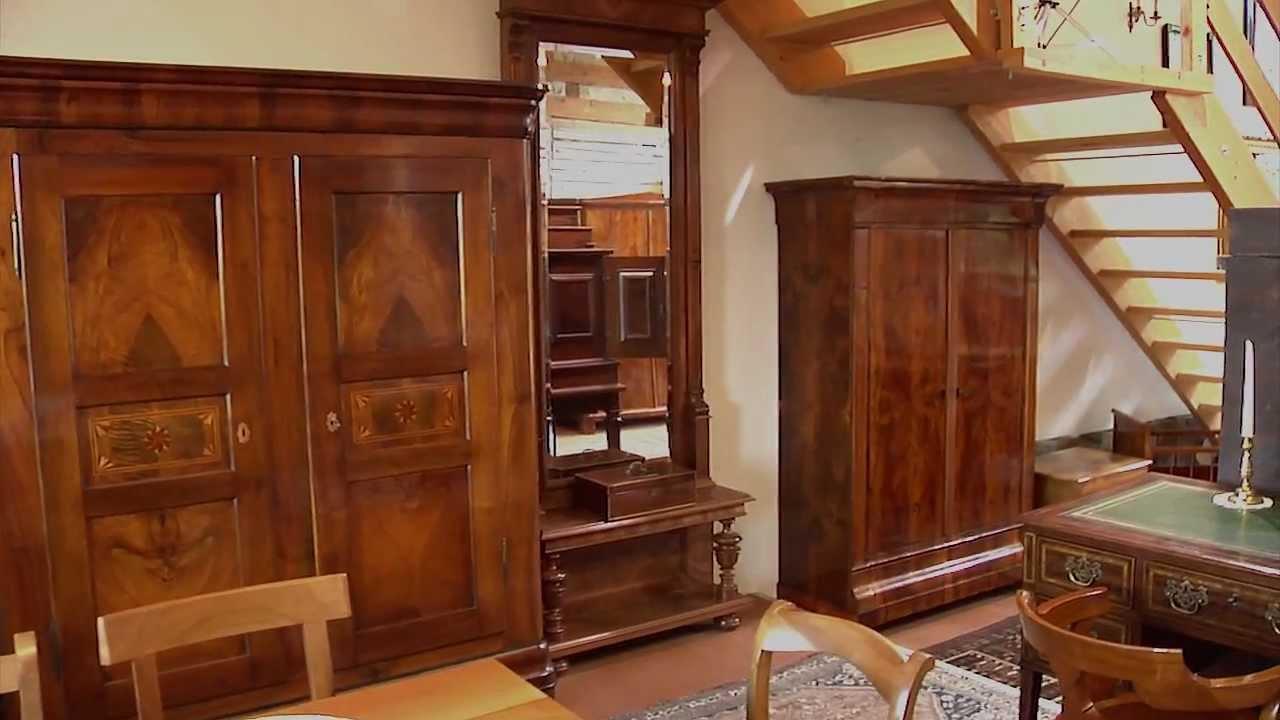 furthof 2 6 antike m bel aus dem biedermeier und barock youtube. Black Bedroom Furniture Sets. Home Design Ideas