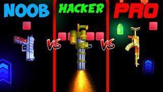 HACKER vs PRO vs NOOB - FLIP THE GUN