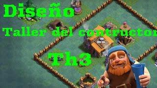 Base defensiva completa taller del constructor level 3 #3 clash of clans