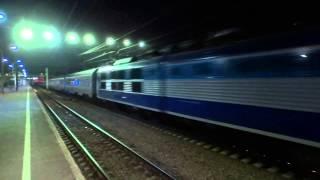 Электровоз ЧС200 с поездом Невский экспресс 200 Km-h по Ст.Тосно Окт.ж.д.