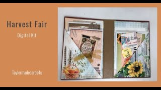 Making Fall Cards and Card holder using Digital Kit Harvest Fair