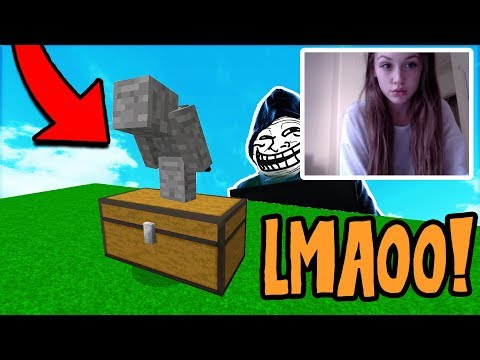 TROLLING THE FUNNIEST GIRL I HAVE EVER MET! (Minecraft Trolling)