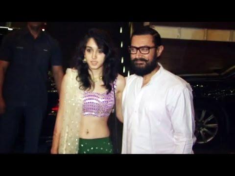 Aamir Khan With Beautiful Daughter IRA At Imran Khan's Christmas Party 2016