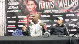 FLOYD MAYWEATHER JR; Discusses McGregor, Lomachenko, Davis v Walsh