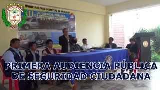 Spot Primera Audiencia Pública de Seguridad Ciudadana 2015 - Hualmay