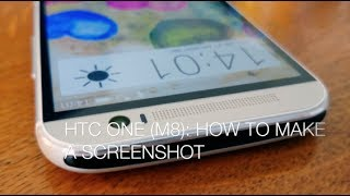 HTC One (M8): how to take a screenshot?