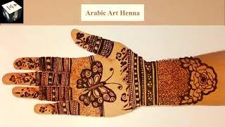 New Stylish Unique Mehndi Design Simple Easy Mehndi Design for Front Hand Arabic Art Henna
