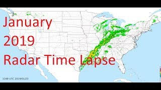 January 2019 US Weather Radar Time Lapse Animation
