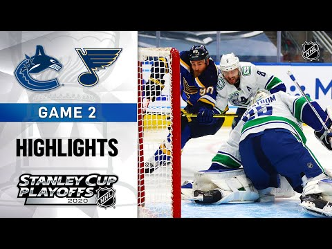 NHL Highlights | First Round, Gm2 Canucks @ Blues - Aug. 14, 2020
