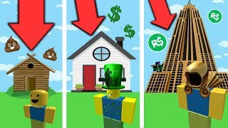 ⭐ FROM THE NOOB HOUSE TO THE SKYSCRAPER PRO IN ROBLOX!! | ROBLOX ⭐