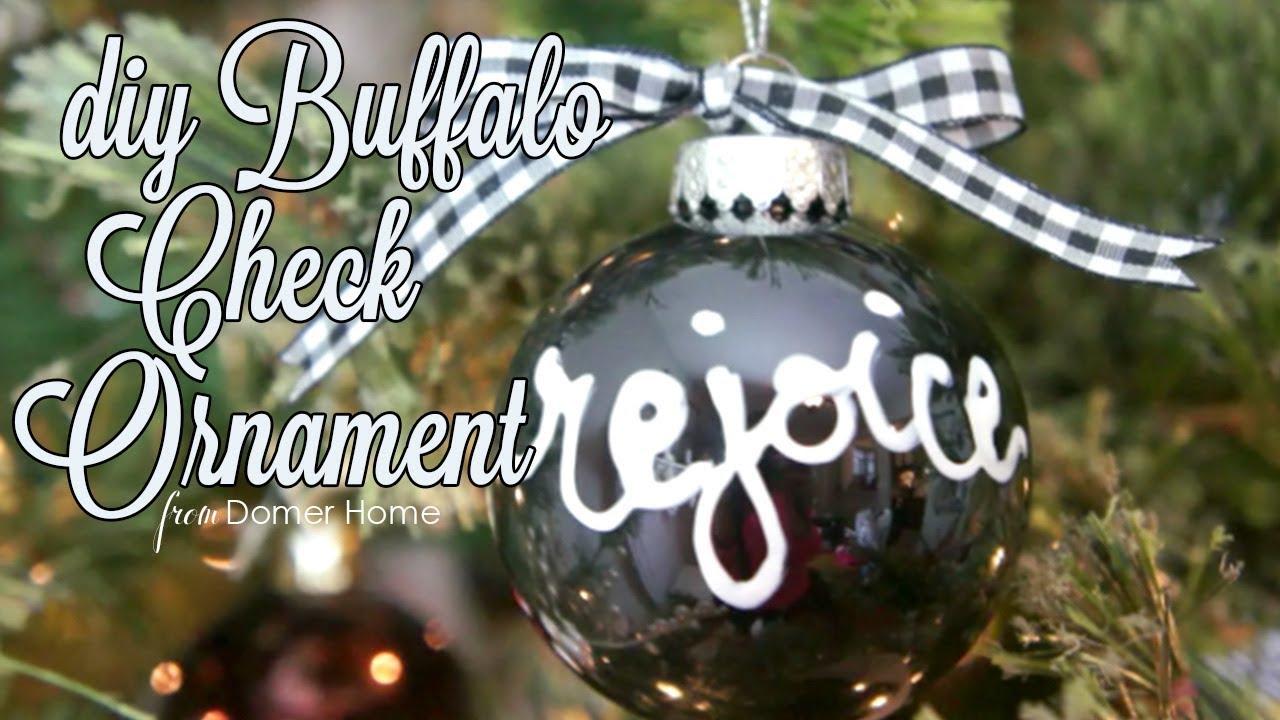Buffalo Check Christmas Tree Ideas.Diy Black White Buffalo Check Ornament