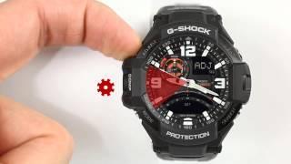 CASIO G SHOCK GA 1000   ustawianie wskazówek 720p
