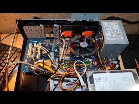 Игровая видеокарта в старом компьютере.