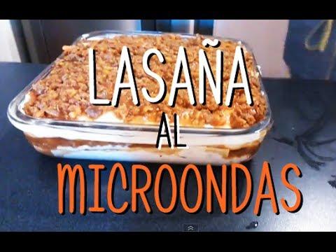 Lasaña Al Microondas Microwave Lasagna Youtube