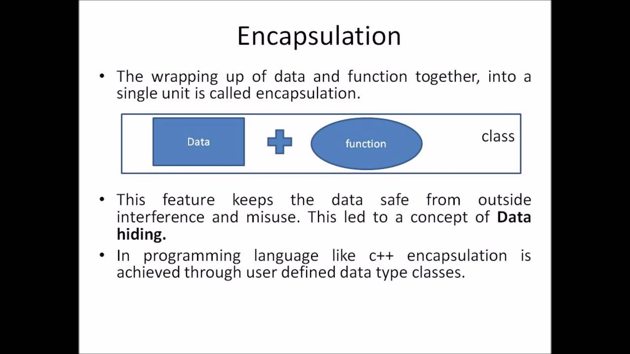 object oriented programming encapsulation data hiding object oriented programming encapsulation data hiding