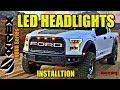 Alpharex Led Headlights   2015 2017 Ford F150