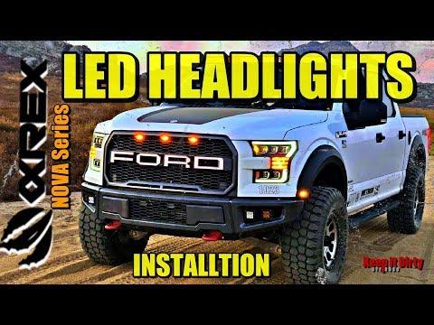 AlphaRex LED Headlights - 2015-2017 Ford F150