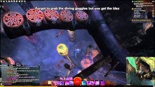 GW2 Not So Secret jumpinng puzzle diving goggles guide