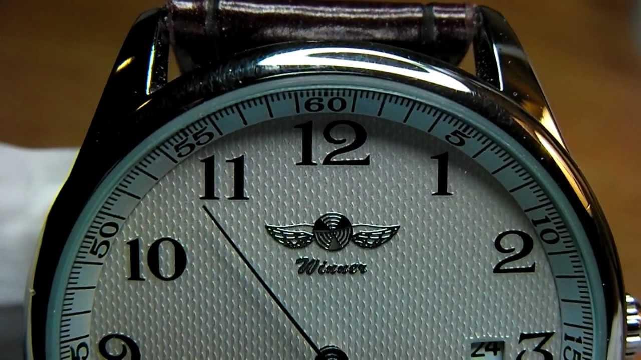 Winner Men S Automatic Mechanical Watch Youtube