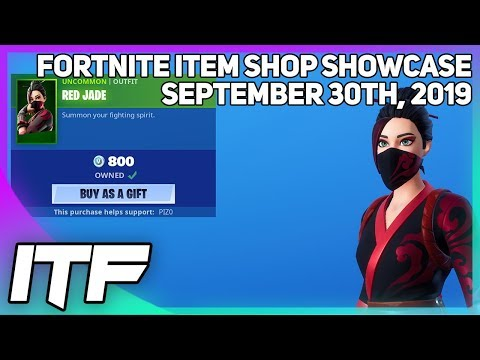 Fortnite Item Shop *NEW* RED JADE SKIN + EMOTE! [September 30th, 2019] (Fortnite Battle Royale)