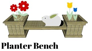 FULL PLANS at: http://myoutdoorplans.com/furniture/planter-bench-plans/ SUBSCRIBE for a new DIY video every single week! If