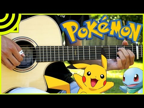 Pokemon (Theme Song) - Acoustic Guitar Cover w/ TABS - Albert Gyorfi