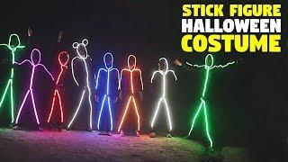 LED Stick Figure Halloween Costume | GlowyZoey