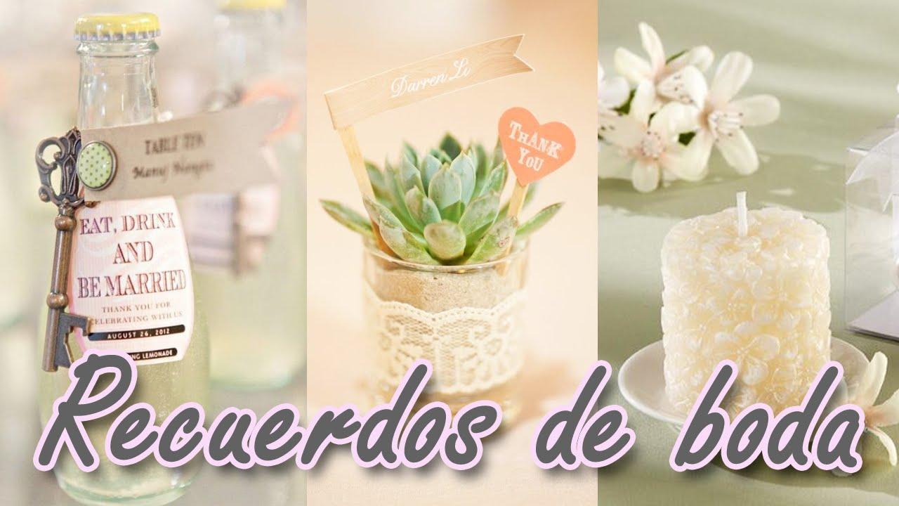 40 ideas de Recuerdos para boda increibles que te van a encantar