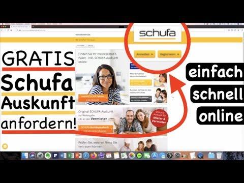 Schufa Auskunft (Datenkopie) kostenlos online anfordern ...